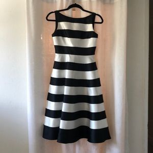 Adrianna Papell black and white stripe dress!